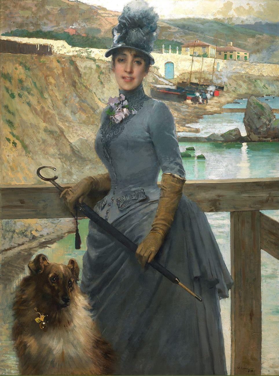 Vittorio Corcos, Ritratto della figlia di Jack La Bolina, 1888, olio su tela, 139x105 cm. Gallerie degli Uffizi, Firenze