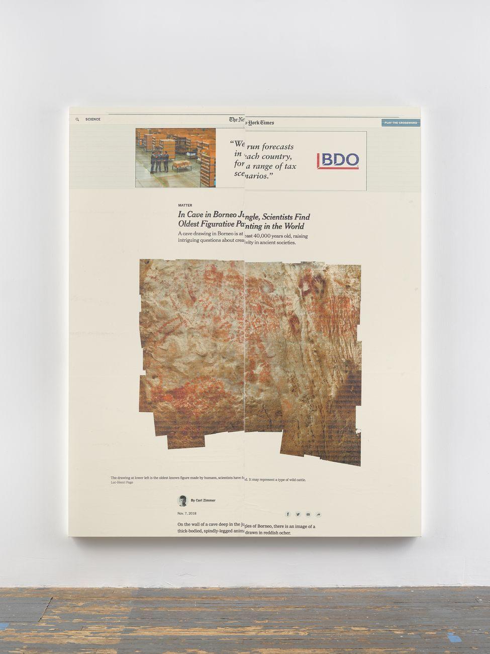 Wade Guyton, Untitled, 2018, stampa inkjet Epson UltraChrome HDX su lino. Courtesy l'artista & Galerie Chantal Crousel, Parigi © Wade Guyton. Photo DR