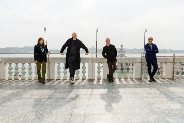 I nuovi direttori artistici della Biennale di Venezia - da sinistra Lucia Ronchetti, Wayne McGregor, Gianni Forte, Stefano Ricci