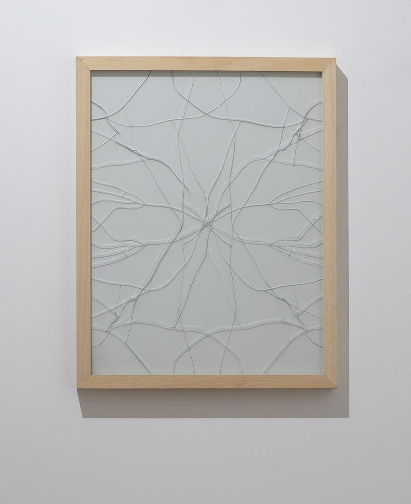 Andrea Francolino Caso x caos x infinite variabli 2019 Glass/Vetro Cm 47, 9 x 37,8 Unique/Unico Courtesy l'artista, Glenda Cinquegrana Art Consulting
