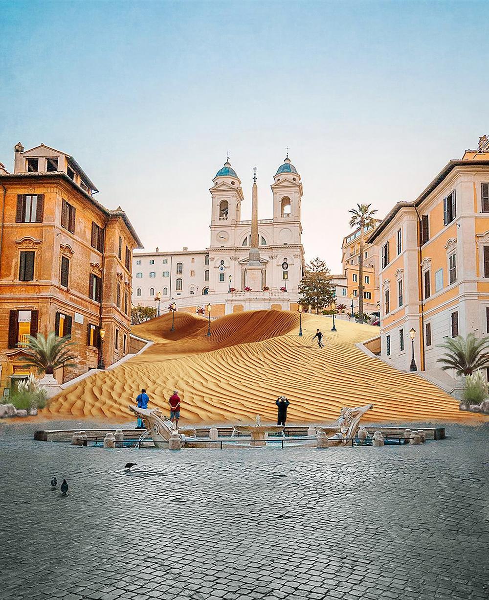 Aut Aut Architettura, Le intoccabili. Piazza di Spagna. Courtesy Aut Aut Architettura