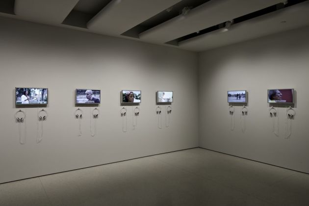 Carlos Motta, Six Acts. An Experiment in Narrative Justice. Installation view at Solomon R. Guggenheim Museum, New York 2011. Photo Kristopher McKay © Solomon R. Guggenheim Museum, New York
