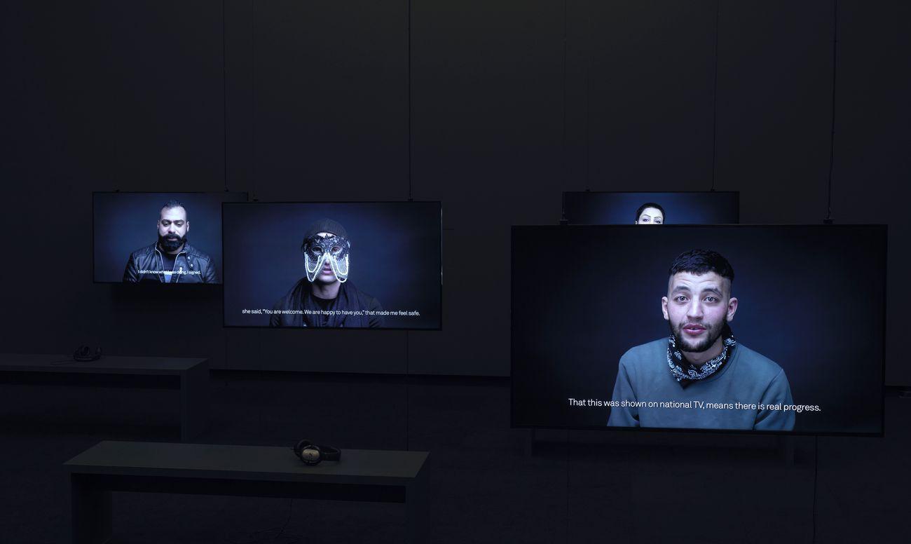 Carlos Motta, The Crossing. Installation view at Stedelijk Museum, Amsterdam 2017. Photos Gert Jan van Rooij. Courtesy Stedelijk Museum