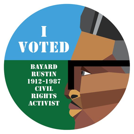 Derrick Adams, I voted, 2020. Stick per il New York Magazine