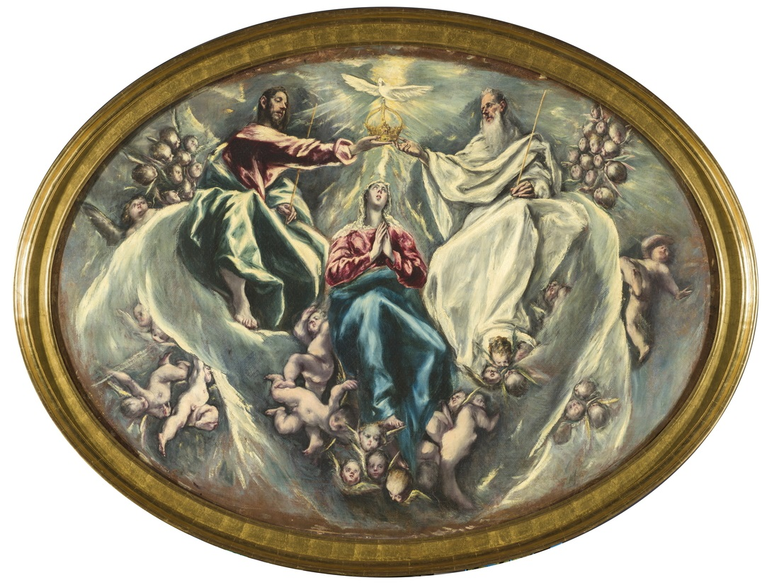 El Greco, Incoronazione della Vergine, Santuario de Illescas Fundación Hospital Nuestra Señora de la Caridad – Memoria Benéfica de Vega (FUNCAVE)