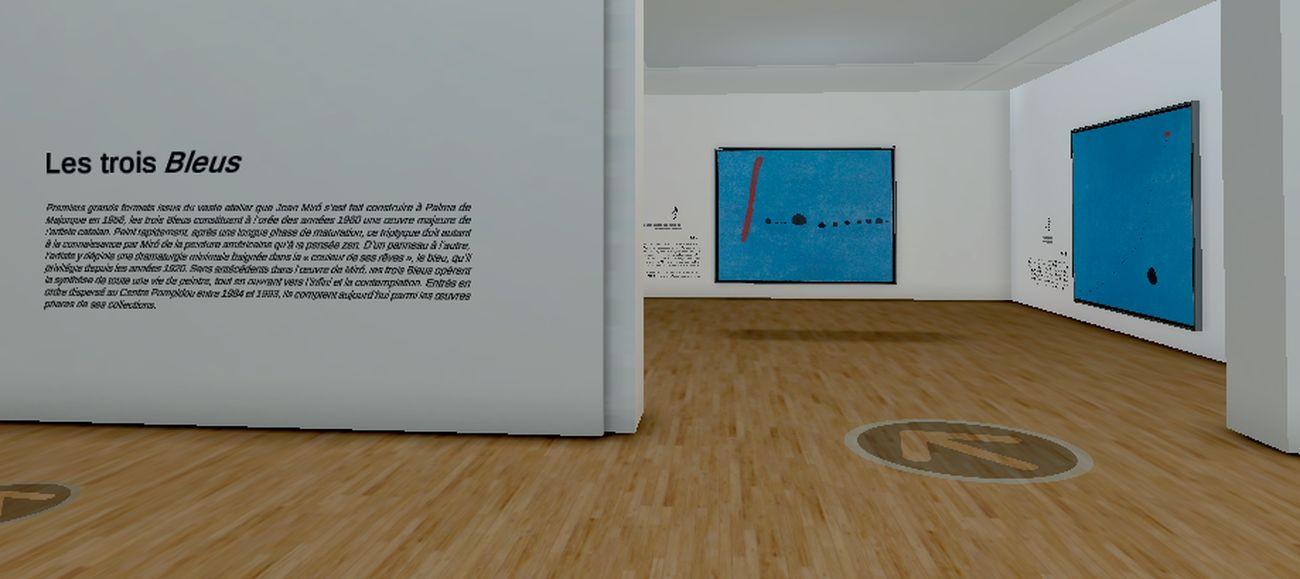 Exposition virtuelle Miró, screenshot, #ExpoMiroVR, giugno 2020 © WAOlab Centre Pompidou, Parigi