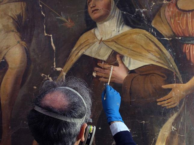 """Il restauro della """"Transverberazione di Santa Teresa"""" di Domenico Udine Nani"""