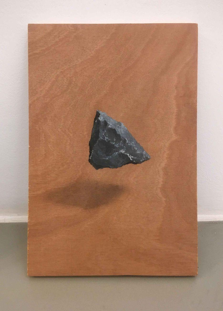 Floating Object, 2018, acrilico e grafite su legno, cm 22x30