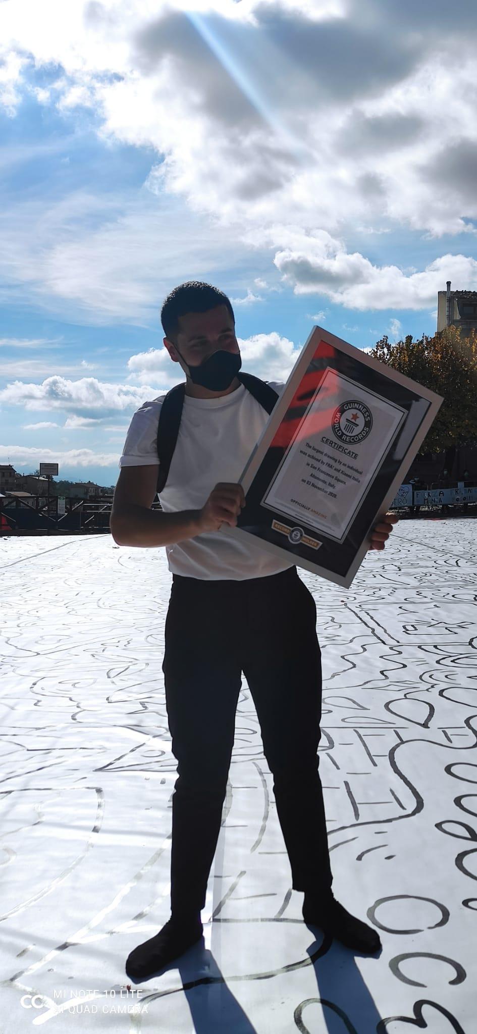 Francesco Caporale, premiazione