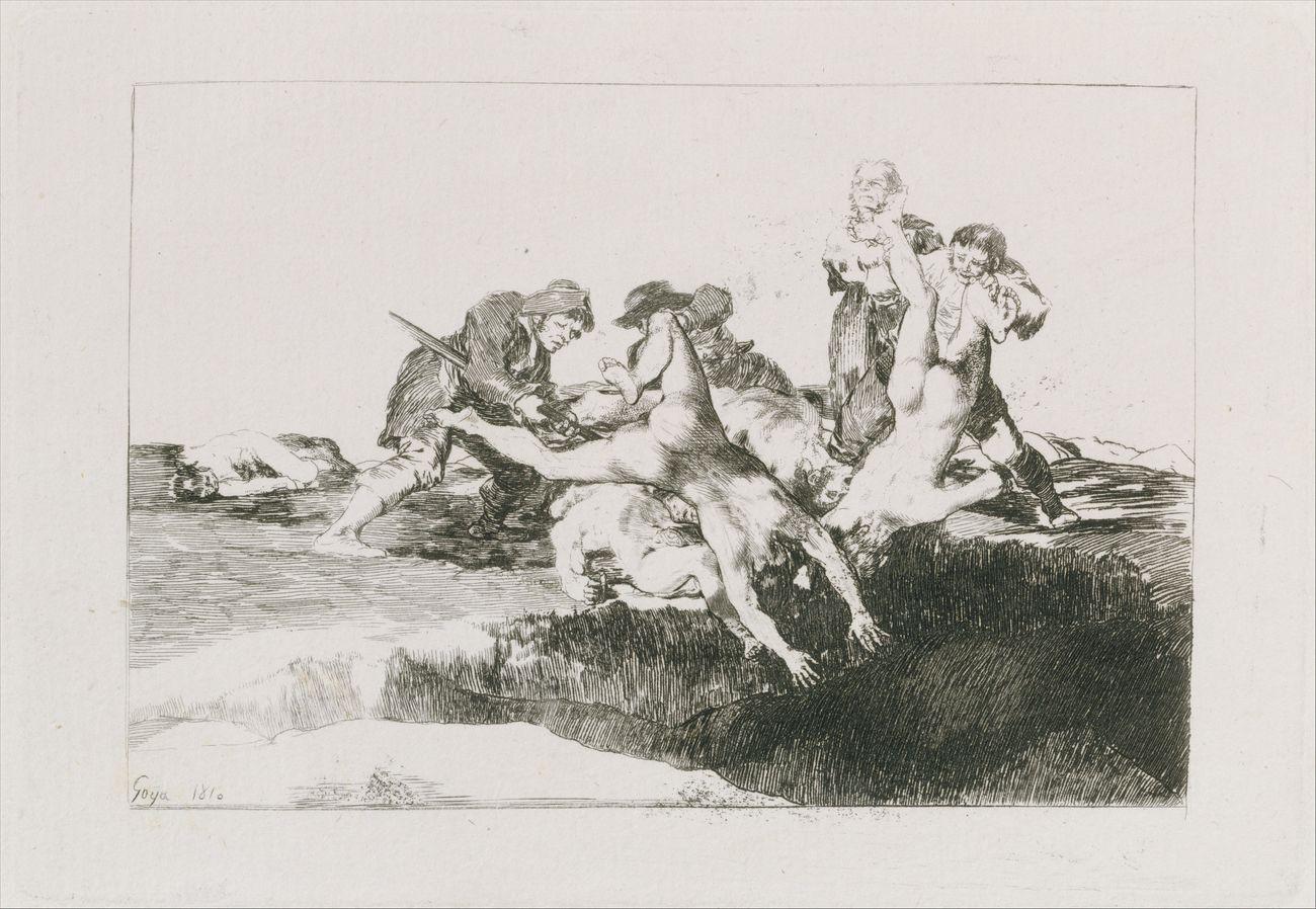 Francisco de Goya y Lucientes, Los Desastres de la Guerra. Caridad, 1810. Harris Brisbane Dick Fund, 1932, Metropolitan Museum of Art, New York