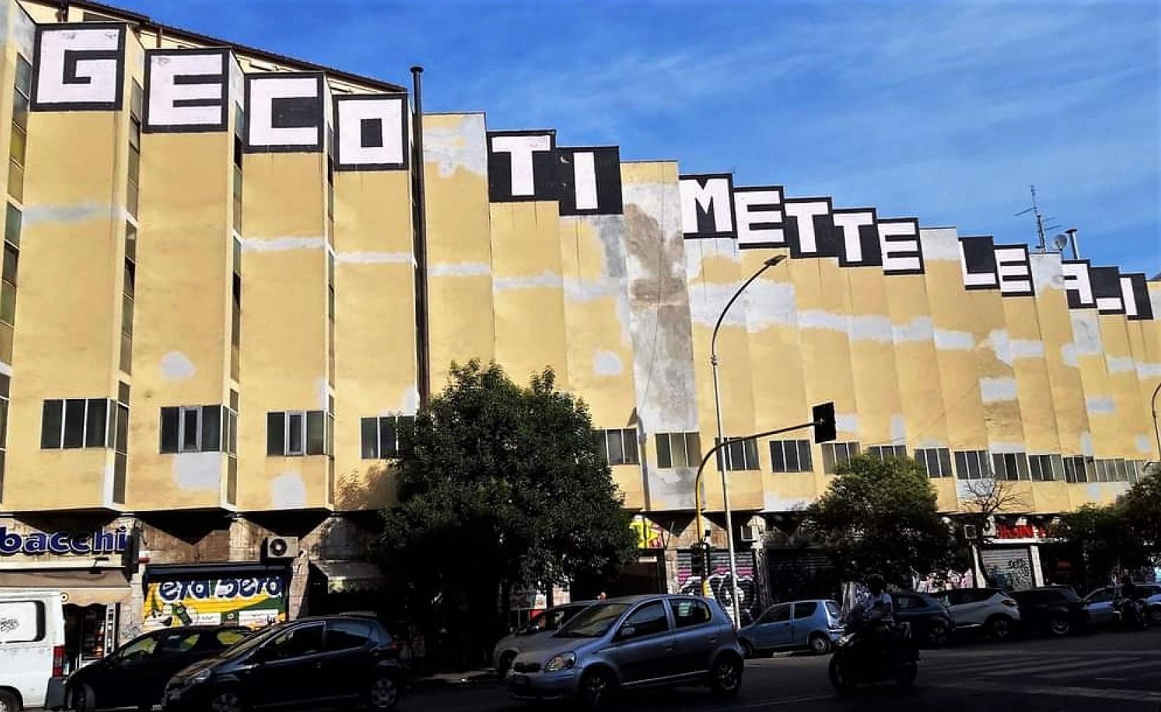 Geco sul Mercato Metronio di Riccardo Morandi