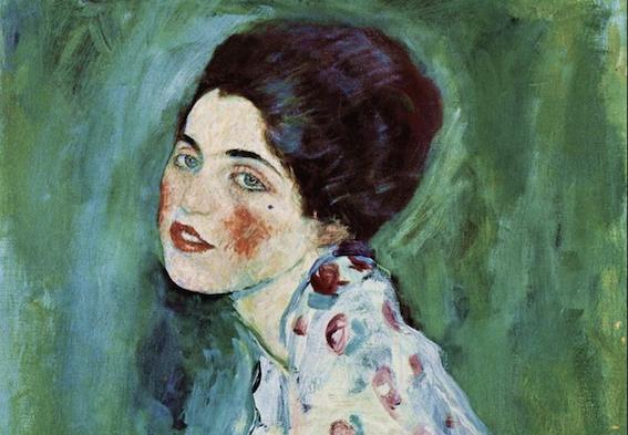 Gustav Klimt, Ritratto di Signora (dettaglio)