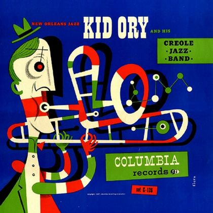 Jim Flora, Kid Ory and His Creole Jazz Band, Columbia 1947