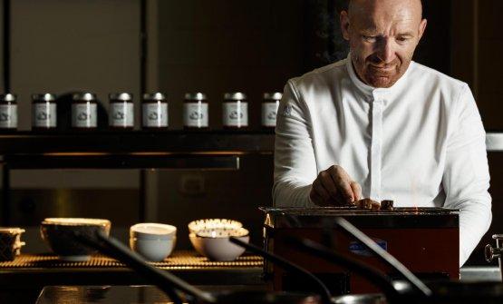 Lo chef Alfio Ghezzi, ristorante Senso Alfio Ghezzi Mart