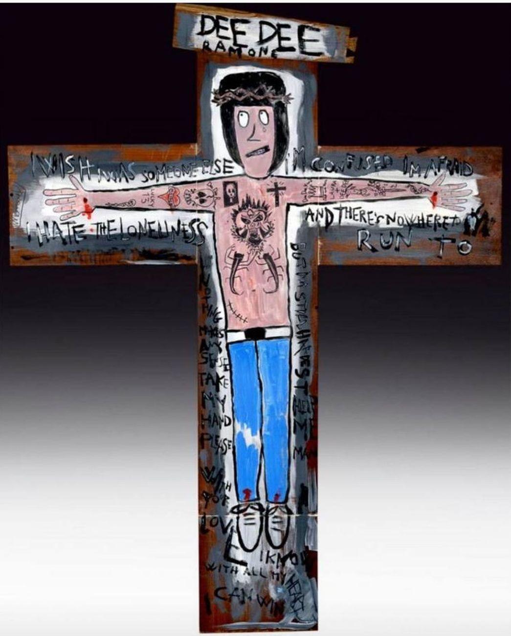 Manuel Cossu, The Cross, 2014, acrilico su legno, cm 100x130
