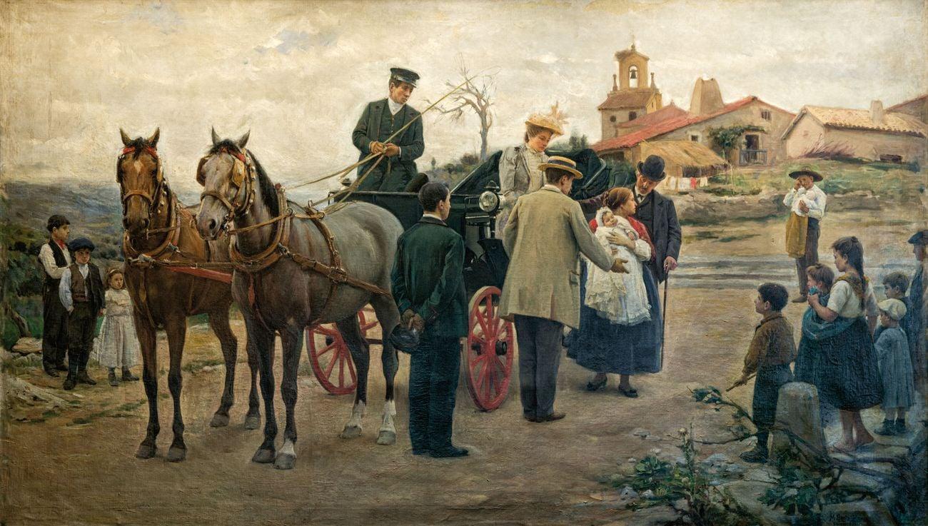 Marceliano Santa María Sedano, El precio de una madre, a mejorar la raza, 1893. Ayuntamiento de Burgos