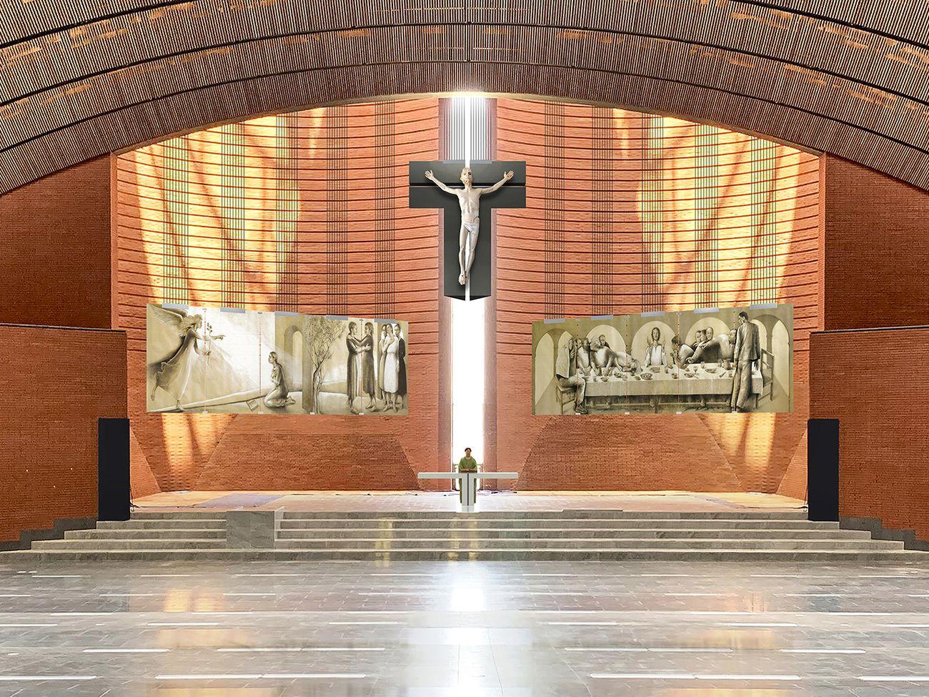 Mario Botta, Basilica di Nostra Signora del Rosario, Namyang, Corea del Sud, 2011–in costruzione
