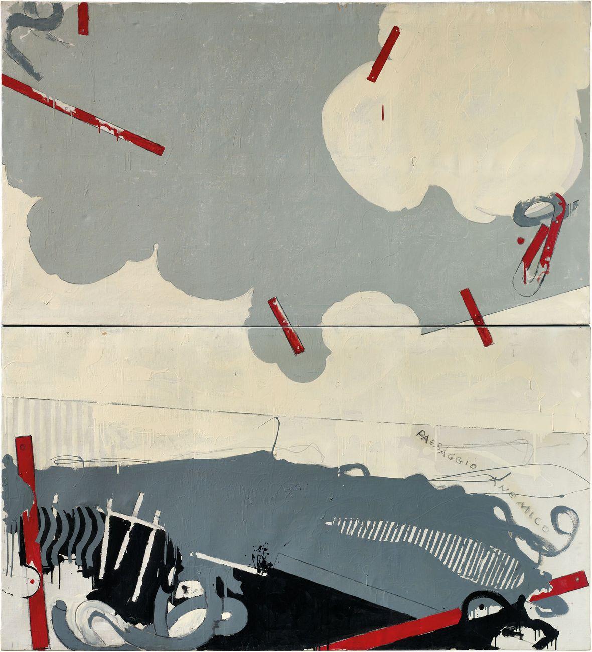 Mario Schifano, Paesaggio Anemico I, 1964. Courtesy Christie's Images Ltd. 2020