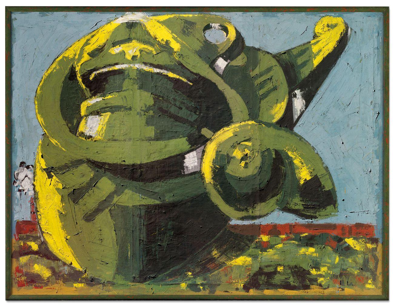 Markus Lüpertz, Arrangement für eine Mütze I dithyrambisch, 1973. Courtesy Christie's
