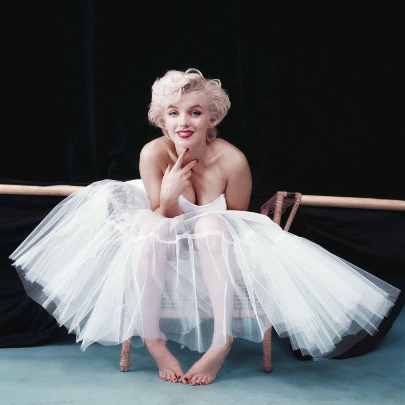 Milton H. Green, Marilyn Monroe con abito da ballerina di Anne Klein, ottobre 1954 © Iconic Images