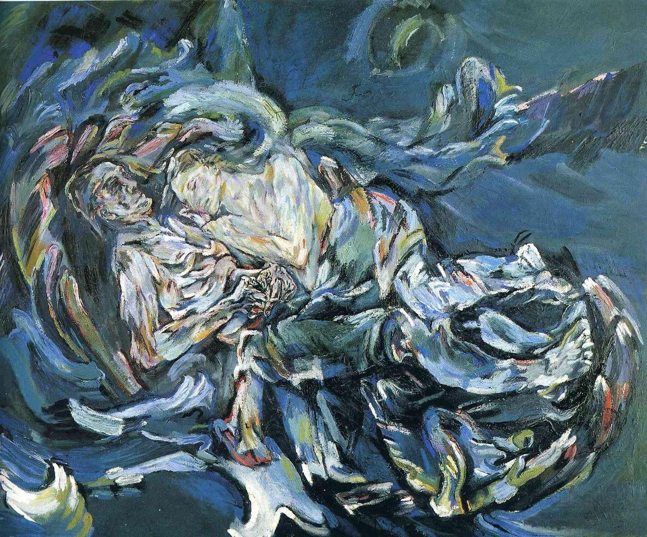 Oskar Kokoschka, Die Windsbraut (La sposa del vento), 1914. Kunstmuseum, Basilea