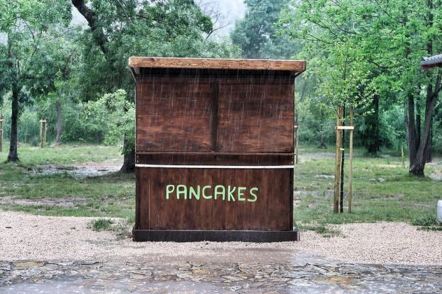 Pancakes Stand, Krka National Park, Croatia, 1985 ca. Photo credit Cathy Tideswell. Courtesy Accidentally Wes Anderson