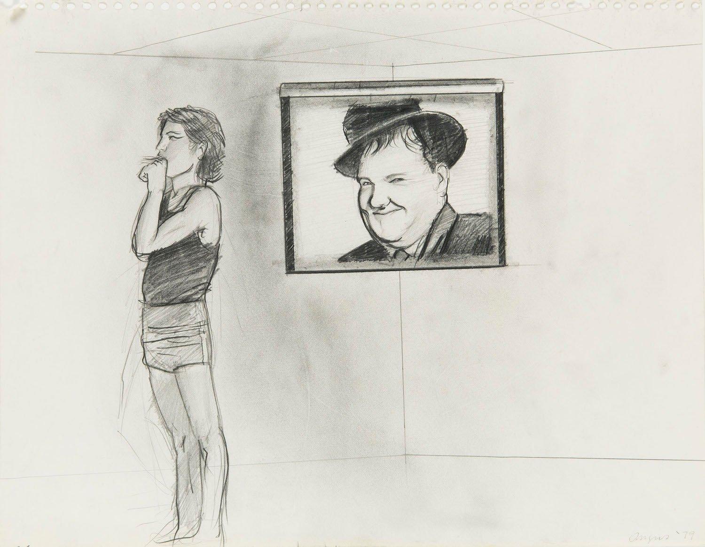 Patrick Angus, Untitled, 1979, drawing, pencil on paper, 27,9 x 25,5 cm. Courtesy Anna Siccardi collection. Photo Giorgio Benni