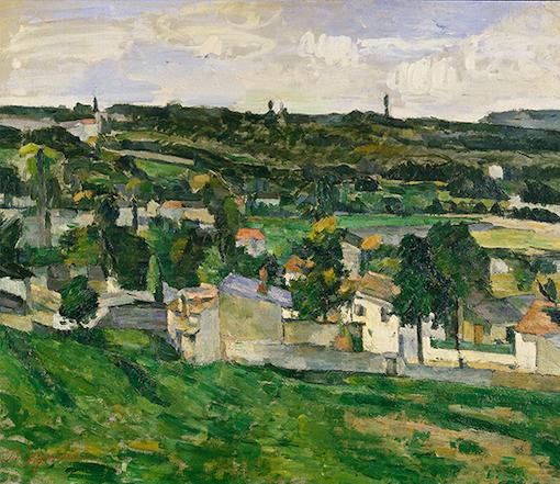 Paul Cézanne, Vista di Auvers-sur-Oise
