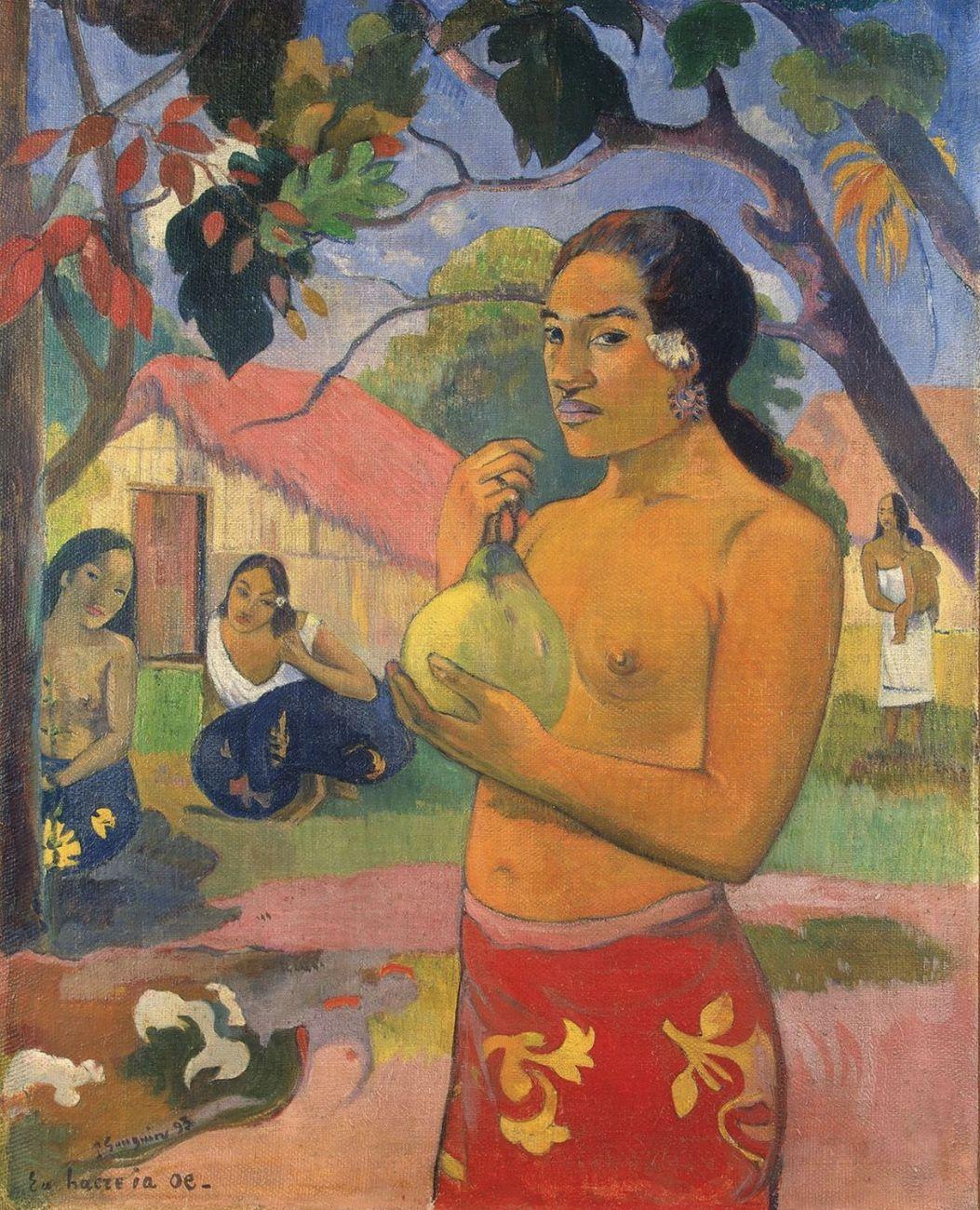 Paul Gauguin, Donna che tiene un frutto, 1893. Museo di Stato Ermitage, San Pietroburgo