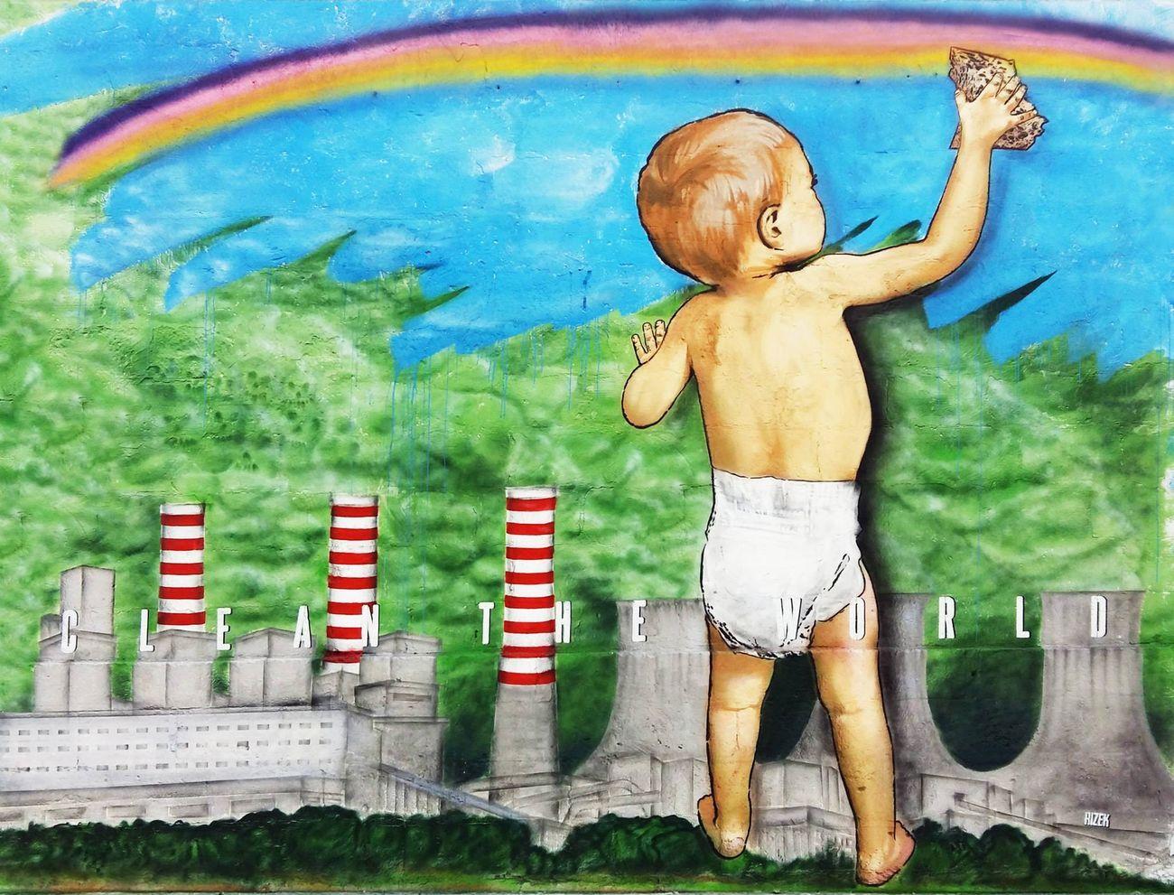 Rizek, Clean the World, Street Like a Rainbow, Castellaneta, 2015