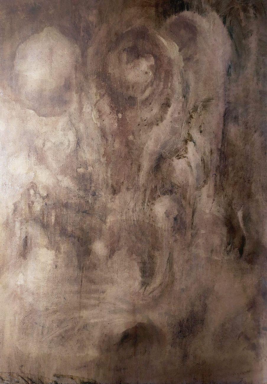 Serena Semeraro, I Cieli di Saturno Cosmogonie, 2020, olio su tela, 50x70 cm