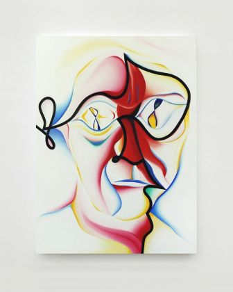 Stefano Perrone, Ego tripping out, 2020, oil on panel, 50x37 cm