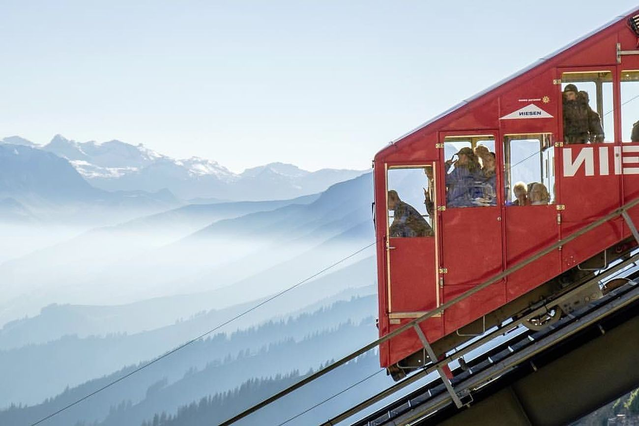 The Niesenbahn, Mülenen, Switzerland, 1910 ca. Photo credit Aydin & Caroline. Courtesy Accidentally Wes Anderson