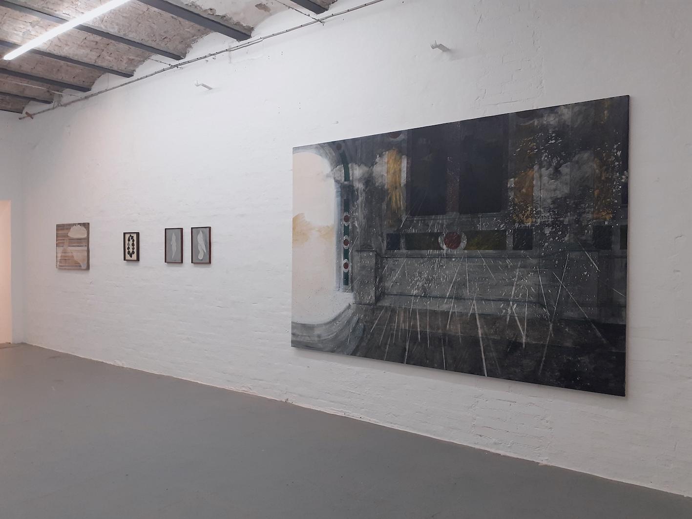 Together We Stand, installation view, Giulio Malinverni, Maurizio Donzelli, 2020, courtesy Marignana Arte