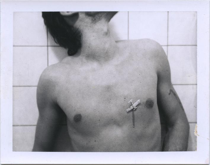 Ulay, Diamond Plane, 1974, Original Auto Polaroid, type 107, 8.5 x 10.8 cm. Courtesy ULAY Foundation