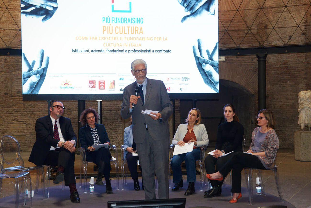 Un evento organizzato nel 2019 dalla Scuola di Fundraising di Roma