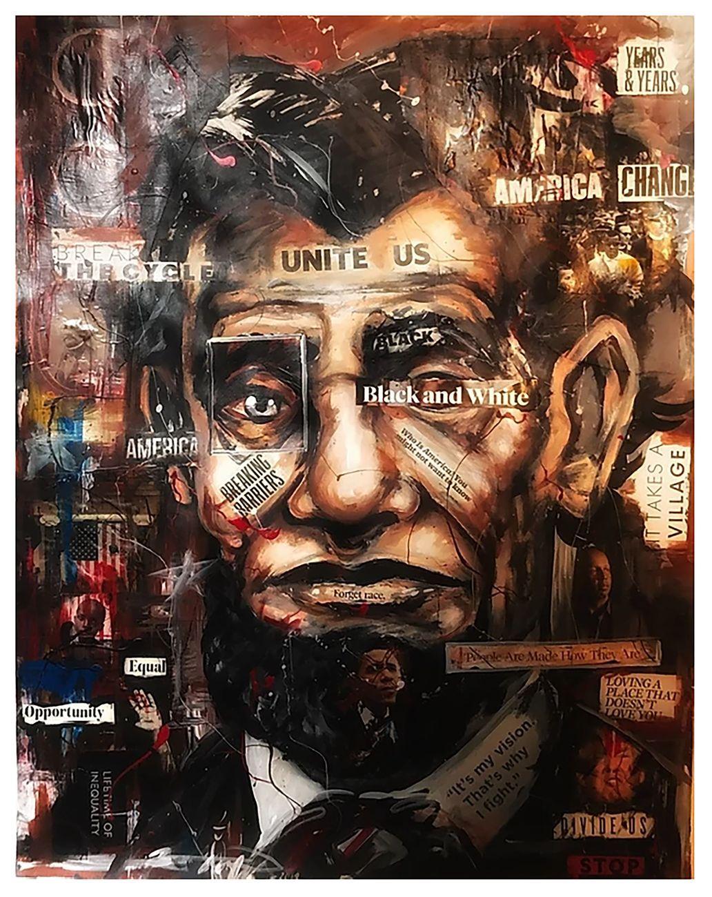 """Uno dei dipinti della serie """"America"""" di Billie Allen"""