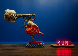 Vanessa German, Joy Machine #3 – Kick Push – Ring The Alarm – Fly, 2019. Courtesy the artist & Pavel Zoubok Fine Art, New York. Photo Fort Gansevoort, New York