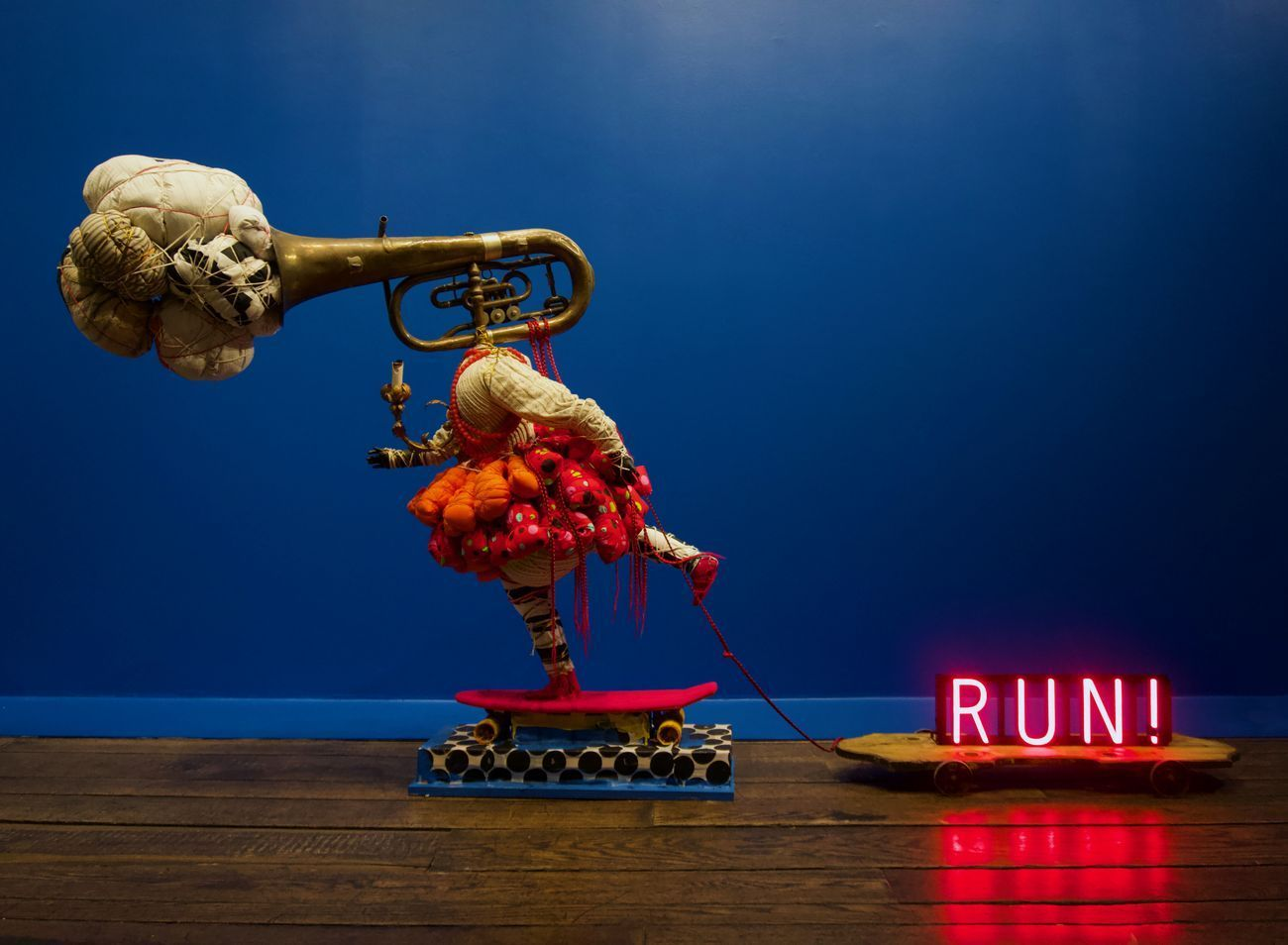 Vanessa German, Joy Machine #3 – Kick Push – Ring The Alarm – Fly, 2019. Courtesy the artist & Pavel Zoubok Fine Art, New York. Photo Fort Gansevoort, New York