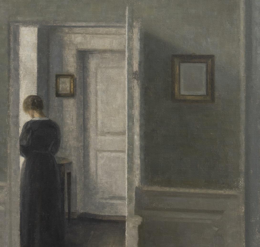 Vilhelm Hammershøi, Interior with a Woman Standing, 1913. Courtesy Di Donna Galleries, New York, dettaglio