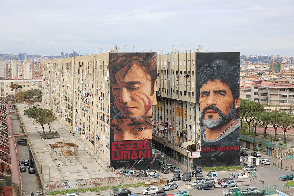 Maradona. il murale di Jorit