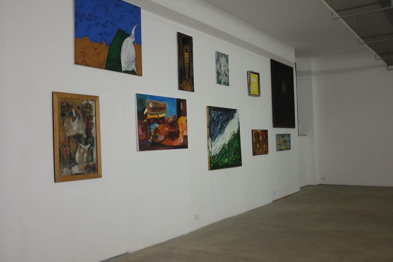 mrzb, Le Stanze di Mauve in ciò che è conosciuto come il Reame dell'Irreale, 2020. Installation view at Associazione Barriera, Torino 2020