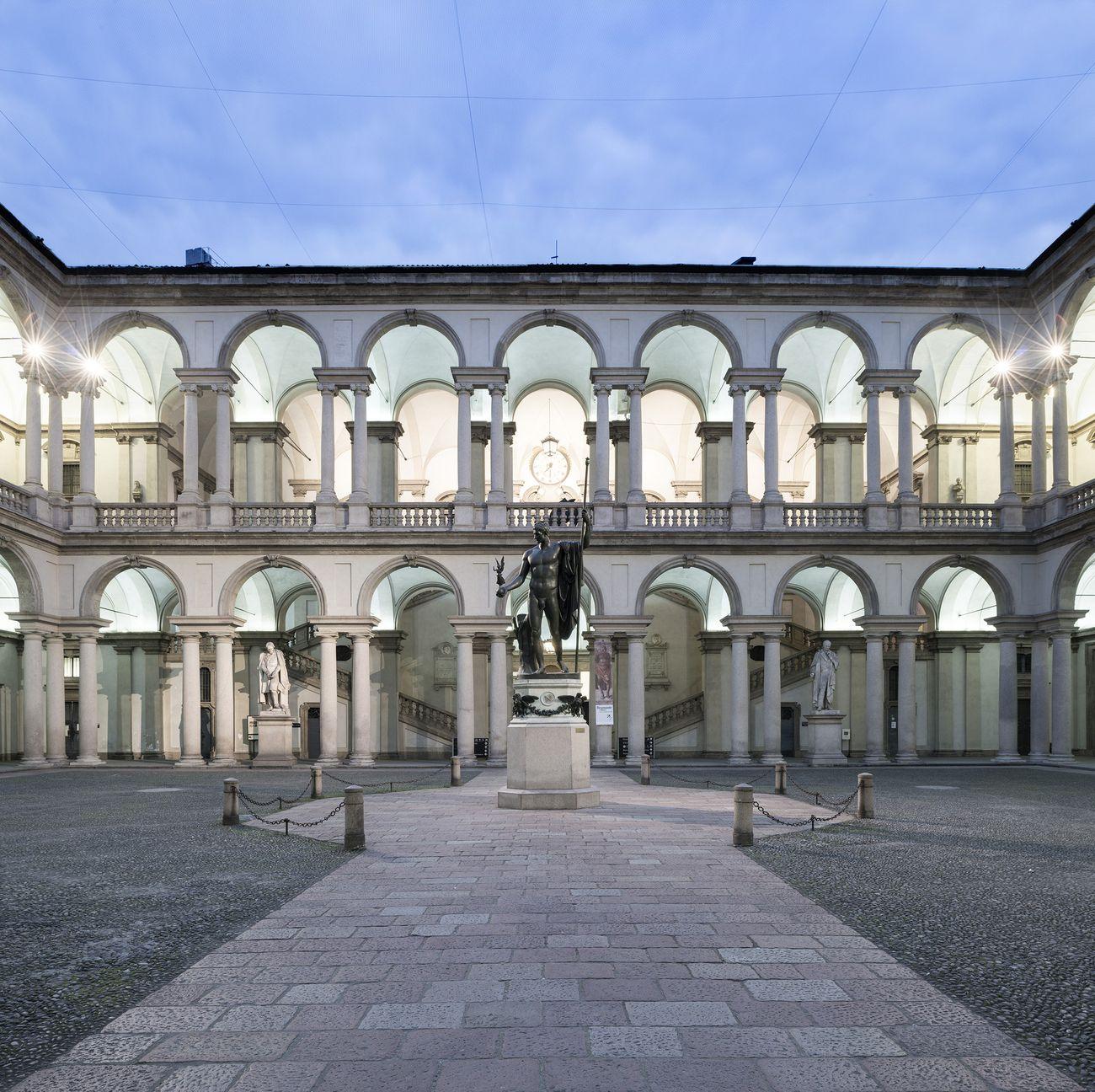 Accademia di Belle Arti di Brera, Cortile d'Onore, Milano. Photo Cosmo Laera. Courtesy Accademia di Brera