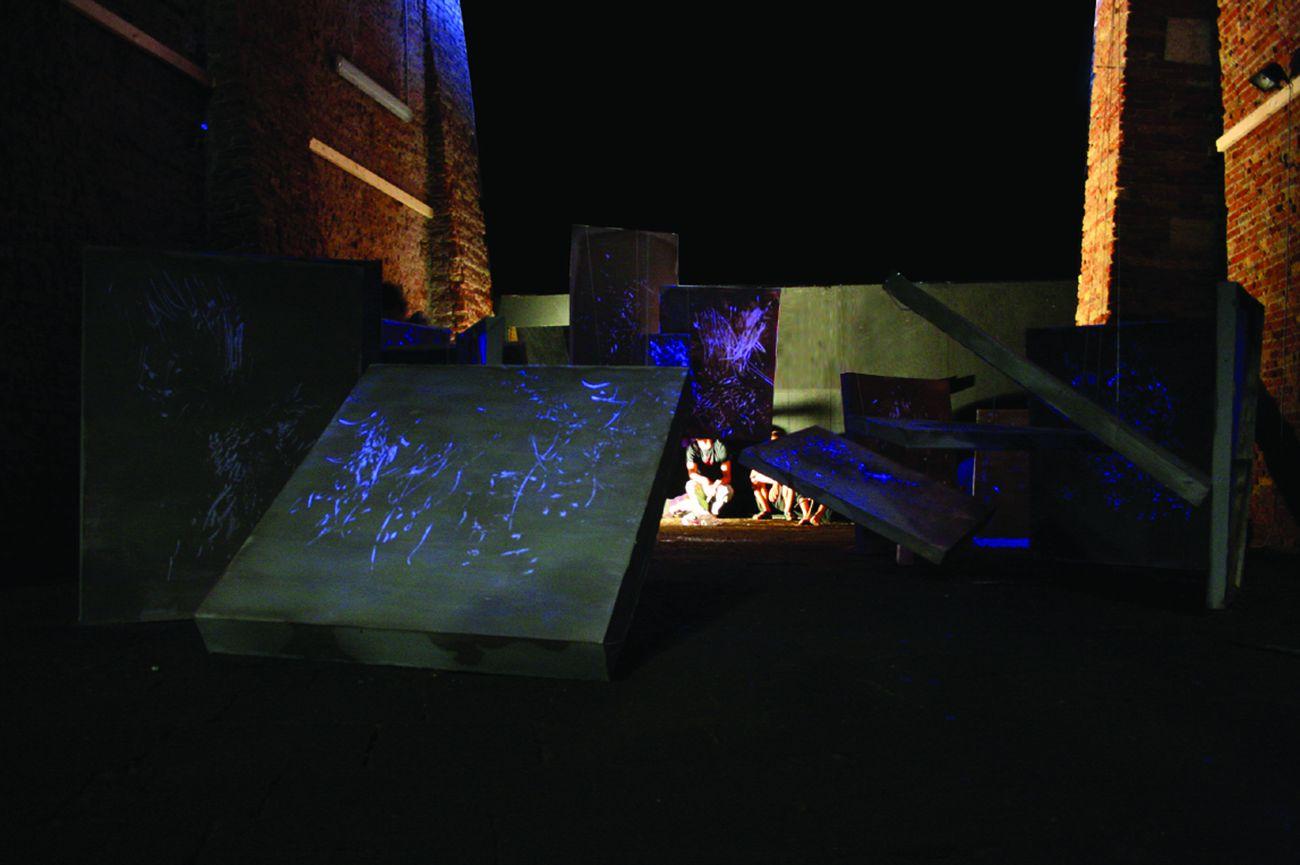 Alberto Scodro, The Magi, 2008. Installation view at Magazzini del Sale, Venezia. Courtesy & photo the artist