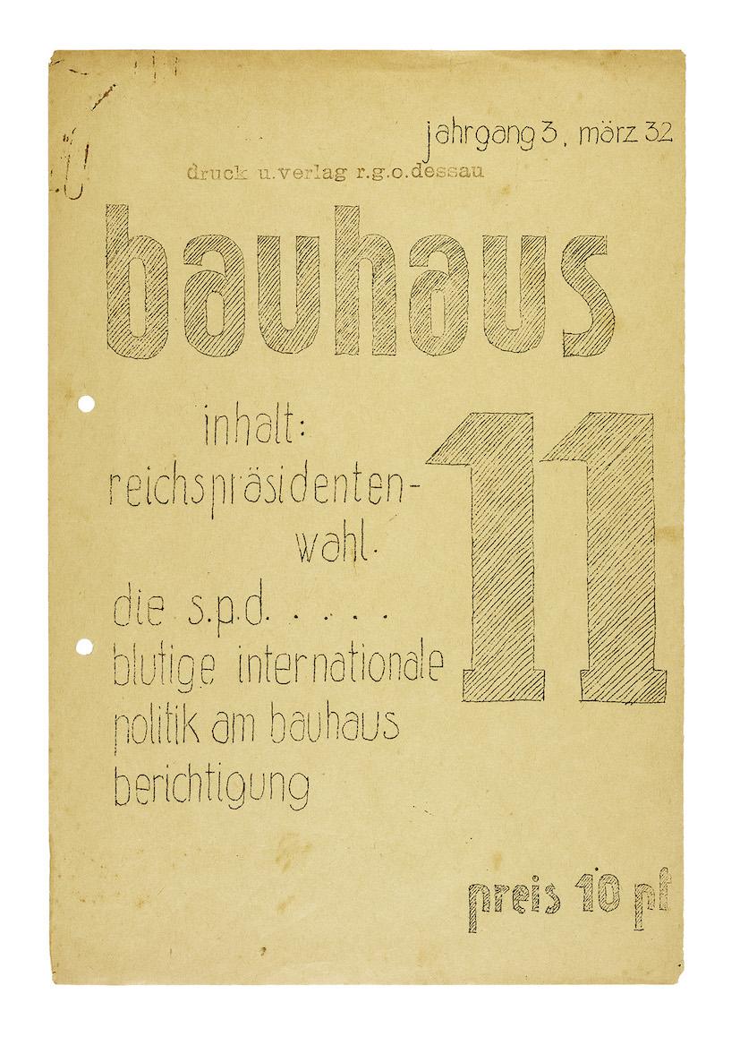 Title of the journal bauhaus. sprachrohr der studierenden. organ der kostufra. © Bauhaus Dessau Foundation (I 8460/1-8 L) / Image by Google