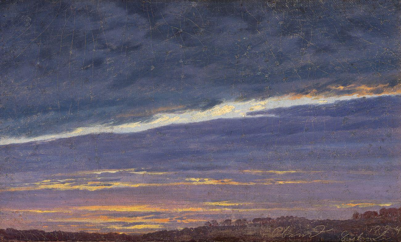 Caspar David Friedrich, Abendlicher Wolkenhimmel, 1824 © Belvedere, Wien. Photo Johannes Stoll