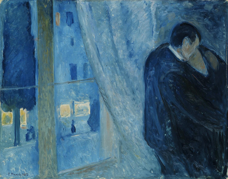 Edvard Munch, Il bacio alla finestra, 1892. National Museet Kuunst, Oslo