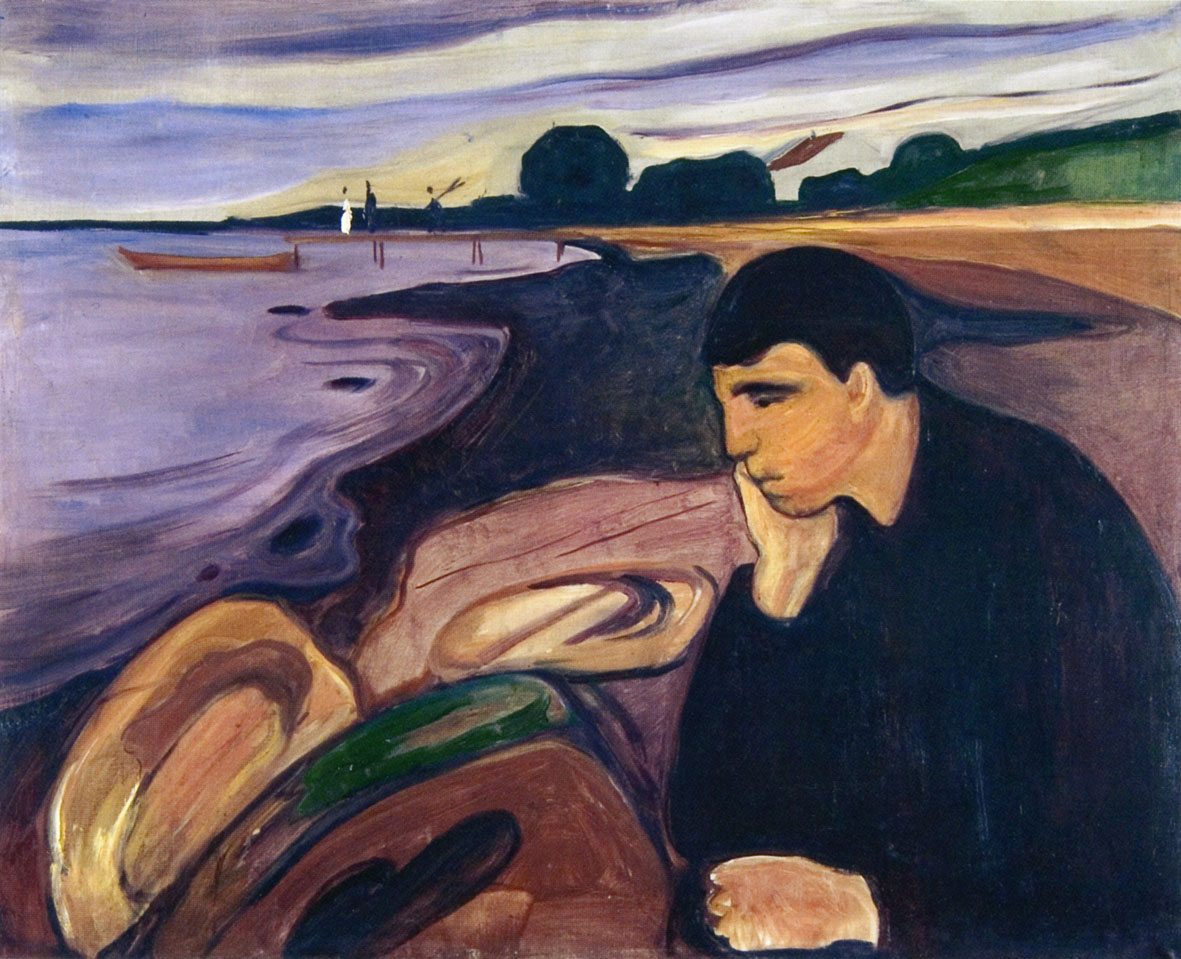 Edvard Munch, Malinconia, 1894-96. Collezione Rasmus Meyer, Bergen