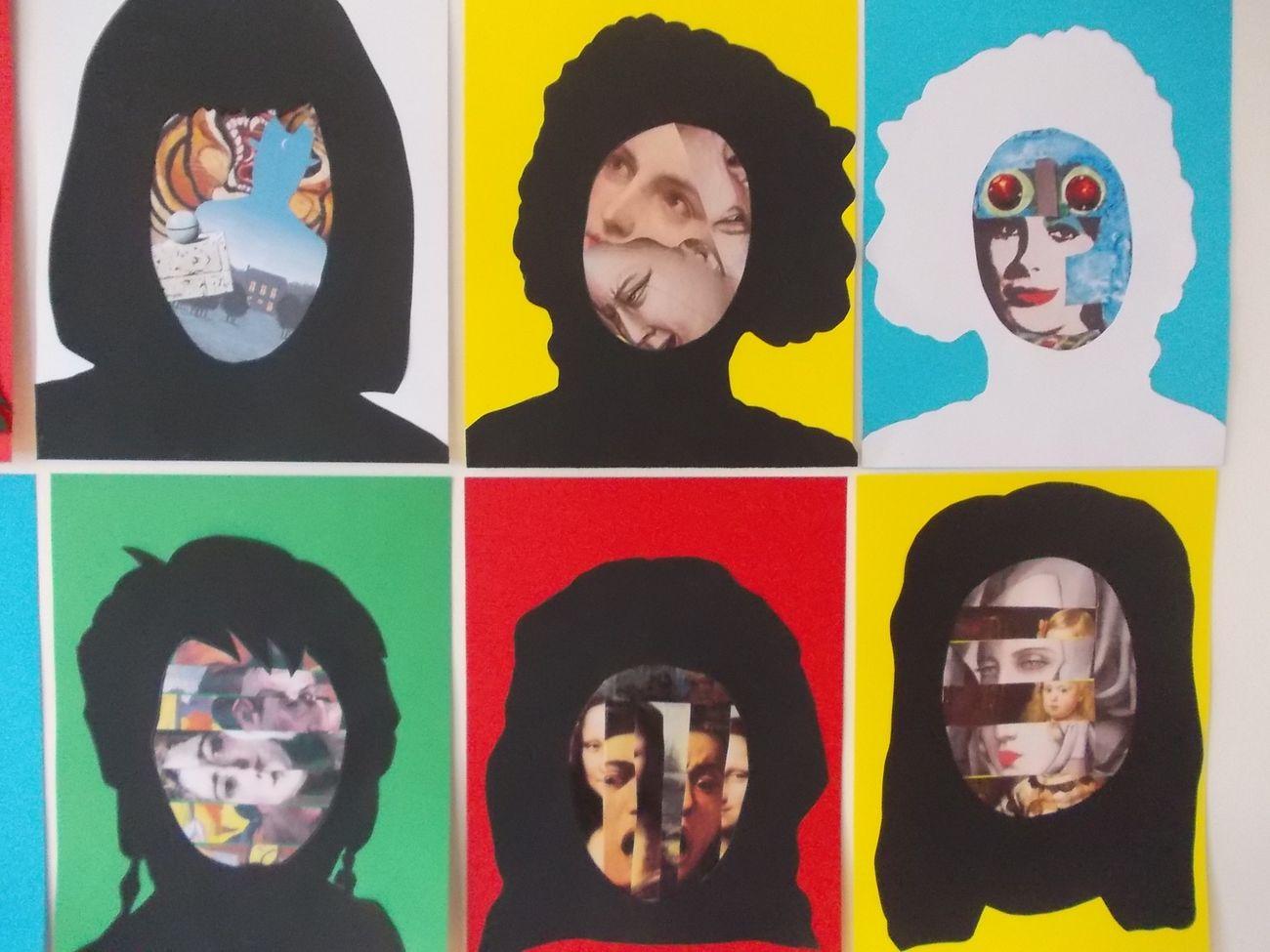 Facce d'arte, laboratorio sull'identità svolto con ragazzi della scuola media di Fiorano modenese © Archivio immagini Edizioni Artebambini