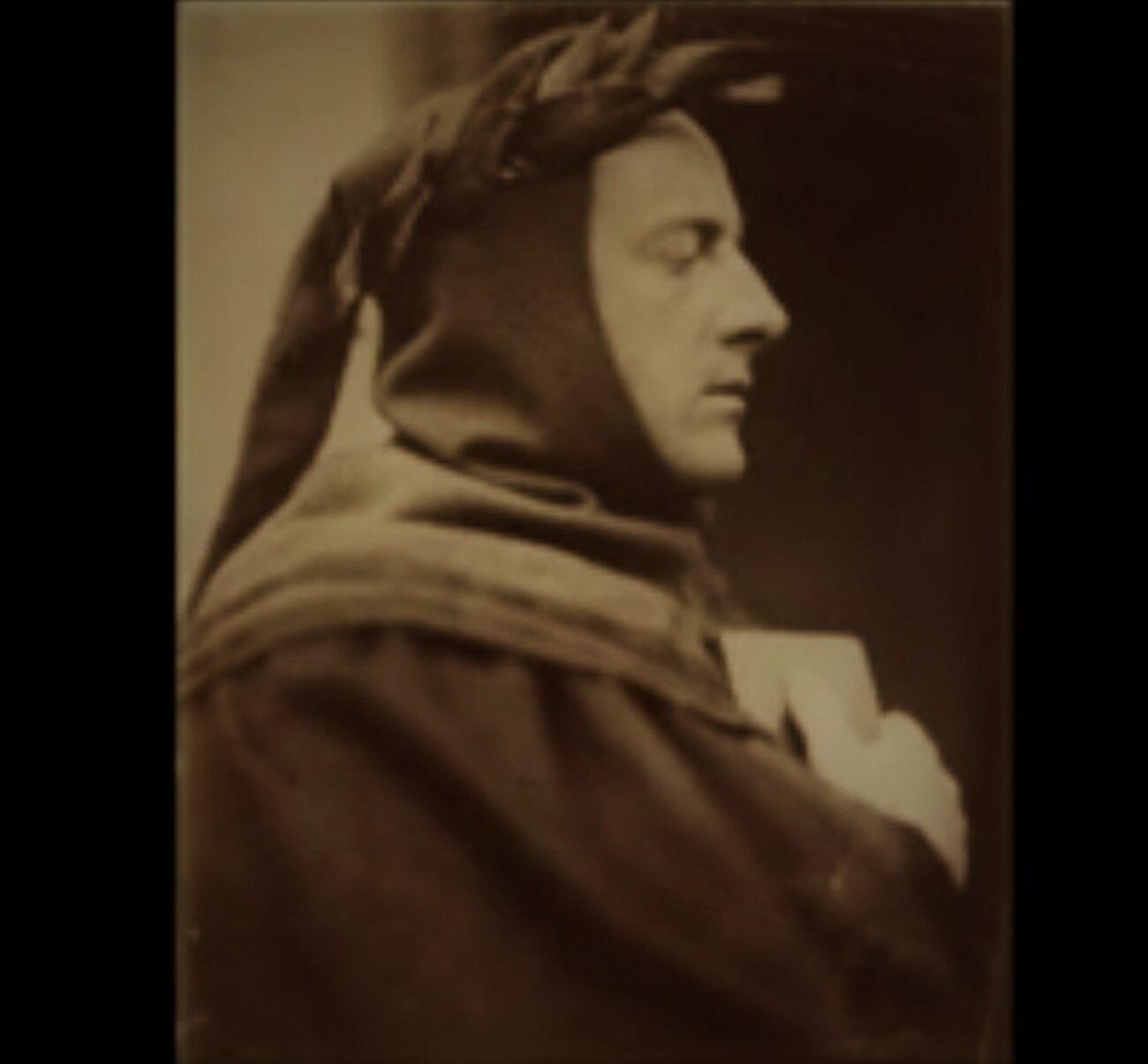 Fig. 11 Wyrfield, foto di Millais nei panni di Dante, 1862